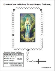 Worksheets Parts Of The Rosary Worksheets pinterest the worlds catalog of ideas rosary worksheet