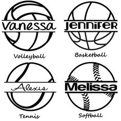 Personalized Sports Car Decal - Tennis, Volleyball, Basketball, Softball on Etsy, $6.00