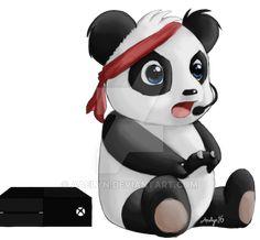 Gamer Panda by Aaelyn.deviantart.com on @DeviantArt