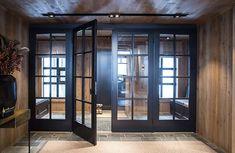 Continental Lodge B & B Studio Innenarchitekten / bandbstudio. Chalet Design, House Design, Cedar Homes, French Doors Patio, Cabin Interiors, Elegant Homes, My Dream Home, Home Remodeling, Sweet Home