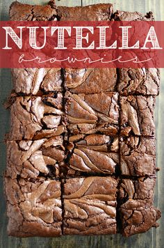 These Nutella Brownies are insanely rich and fudge-y. And, duh, Nutella!