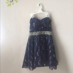Mymichelle strapless dress style 6229XX2N Navy strapless dress My Michelle Dresses Strapless