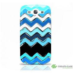 """Ocean Chevron"" - Samsung Galaxy s3 case"