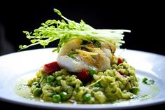 Pea Risotto With Halibut, Chorizo, and Mint | 10 Gourmet Meals Without The Restaurant Prices