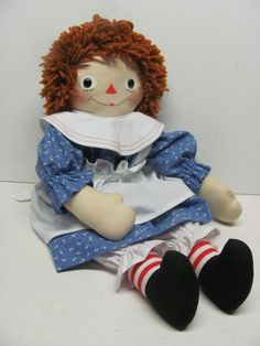 "Handmade ""Silsby"" Style Raggedy Ann, 19""  Created by Joan Oest."