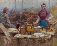 Базарный день от Edouard-Jean Dambourgez (French, 1844-1890)