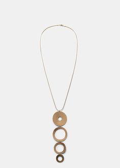 Collana anelli ciondolo - Bigiotteria da Donna | MANGO