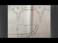 Round collar neck design cutting and stitching DIY tutorial Part 3 Chudi Neck Designs, Neck Designs For Suits, Neckline Designs, Dress Neck Designs, Collar Designs, Kurti Patterns, Dress Sewing Patterns, Clothing Patterns, Collar Kurti Design