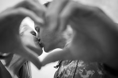Cute way to capture a kiss!  Ashfall Mixed Media via The Bride Link