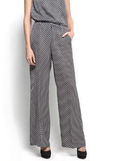 Mango Women`s Printed palazzo trousers - Pami $34.99