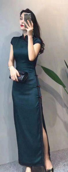 Cheongsam Dress, Dresses, Fashion, Vestidos, Moda, Fashion Styles, Dress, Fashion Illustrations, Gown