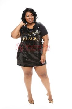 Afhængige af Black Sequin Shirt Dress (flere farver)