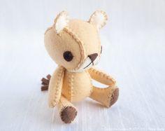 Lioness Wool Felt Soft Sculpture Art Doll - Sasha, Open Edition No. 001. $75.00, via Etsy.
