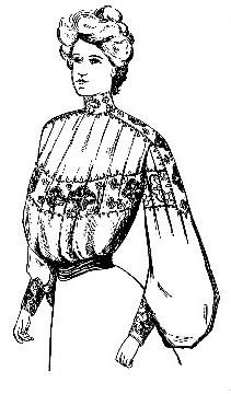 Edwardian Shirt Waist (Blouse) Pattern  from the Fall & Winter 1903 edition of Voice of Fashion