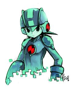 Megaman Exe by LazyTurtle.deviantart.com on @DeviantArt