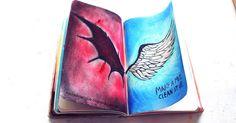 Elena Rogue: Wreck This Journal Update 2016 Bullet Journal Ideas Pages, Bullet Journal Inspiration, Art Journal Pages, Wreak This Journal Pages, Journal Notebook, Demon Drawings, Art Drawings, Goodnotes 4, Gcse Art Sketchbook