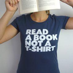 Read A Book T-shirt by ilovemixtapes