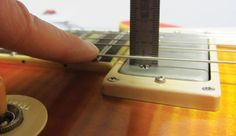 What's the ideal pickup height? And how do you adjust the pole pieces? #ModGarage #Guitar