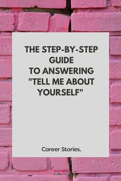 I built a step-by-step blog series to walk you through how to answer tell me about yourself at a job interview.   #careers #jobsearch #jobseeker #careerstories #jobinterview #careerdevelopment