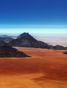 The epic landscape that you fly over to reach Namibia's Skeleton Coast—miles and miles of desert untouched by man or beast.