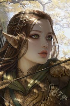 Artstation - arwen nightbreeze, ina wong tattos in 2019 elfi Anime Art, Fantasy Characters, Fantasy Artwork, Beautiful Fantasy Art, Fantasy Warrior, Elf Art, Art, Fantasy Girl, Digital Art Girl