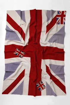 union jack throw from anthropologie reverses to a floral