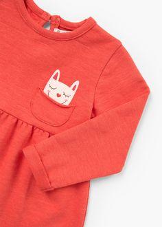 Vestido algodão estampado | MANGO KIDS