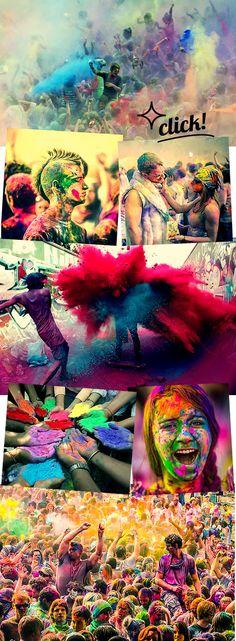 Uma festa bem colorida