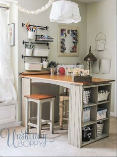 Sewing room organization http://unskinnyboppy.com/2013/09/updating-and-organizing-the-craft-room/