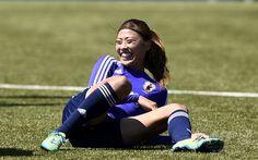 女子サッカーW杯カナダ大会・決勝の米国戦を控え、調整に臨む宇津木瑠美(2015年7月4日撮影)。(c)AFP/FANCK FIFE ▼5Jul2015AFP|なでしこがW杯連覇に向けて調整、あす米国戦 http://www.afpbb.com/articles/-/3053661 #2015_FIFA_Womens_World_Cup #Japan_womens_national_football_team