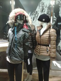 Mountain backdrop in Moncler window display at Jade Indonesia
