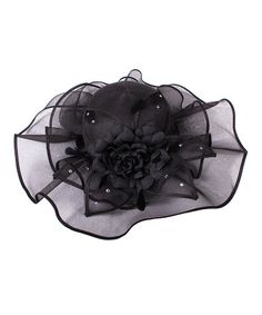 Black Floral Church Hat by DeVine #zulily #zulilyfinds