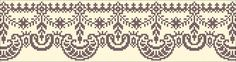 Border 108 | Chart for cross stitch or filet crochet.