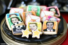 Oscars theme party ideas; Cookies by Eleni's Cookies
