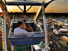 Ferris Wheel, San Antonio    Photograph by Tyler Cleveland, My Shot    High above San Antonio, Texas, a couple steals a kiss at sunset. Situated in the southern part of the state's Hill Country, the city is home to the Alamo and the historic River Walk.