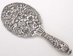 Tiffany Repousse Sterling Hand Mirror, c1880's