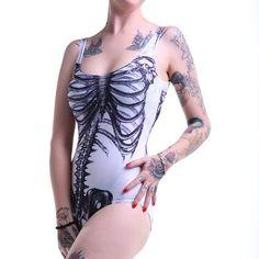 Body Gótico Elástico Esqueleto | Crazyinlove España