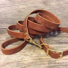 Personalized Brown Leather Dog Collar with by CopperLeafLeather