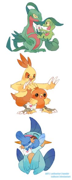 Generation 3 starter pokemon