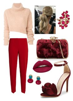 """""""Untitled #1"""" by beacraven ❤ liked on Polyvore featuring Ann Demeulemeester, Benedetta Bruzziches, Antonio Berardi, LE VIAN, Sarosi by Timeless Gems, Huda Beauty and pastelsweaters"""