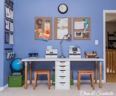 Great ideas on how to create a homework station for any sized space! // cleanandscentsible.com