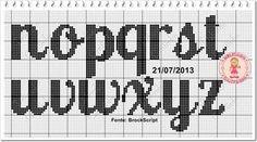 Mono 2 Plastic Canvas Letters, Crochet Letters, Needlepoint Stitches, Cross Stitch Alphabet, Stitch 2, Canvas Patterns, Loom Beading, Chart, Crochet Ideas