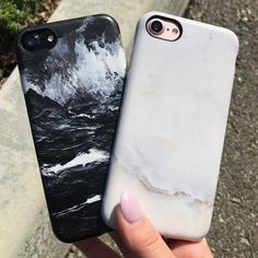 Classic combo ⚪️ Ivory White & Black Marble Case from Elemental Cases available for iPhone 7 & iPhone 7 Plus