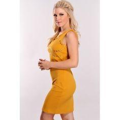 Sarı Mini Elbiseler