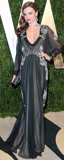 Miranda Kerr in Valentino at the 2013 Vanity Fair Oscar Party