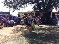 In the Native American area, you can watch real tribal members promenade.  Their costumes and dances are so beautiful.