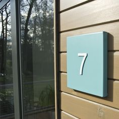 contemporary stainless steel Miami House Number Plates