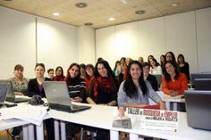 el grupo de mujeres de Yecla que se han puntado al taller de busqueda activa de empleo que promueve la Concejalia de Empleo y Concejalía de la Mujer del Ayuntamiento de Yecla