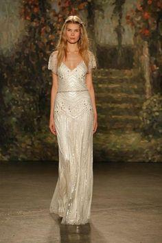 Jenny Packham beaded vintage-inspired wedding dress