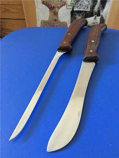 Annons på Tradera: Retro Eskilstuna Rostfritt 2st Knivar 30cm/29cm Bra skick